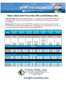 Last Minute Sailings - 04-16-18 - Cruise Elite