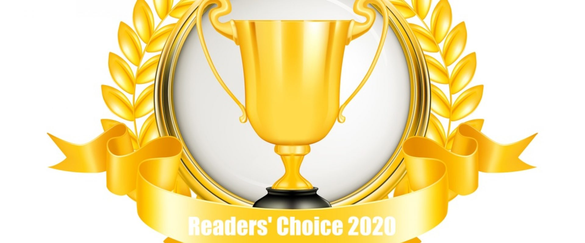 Winner golden emblem for Readers' Choice Award
